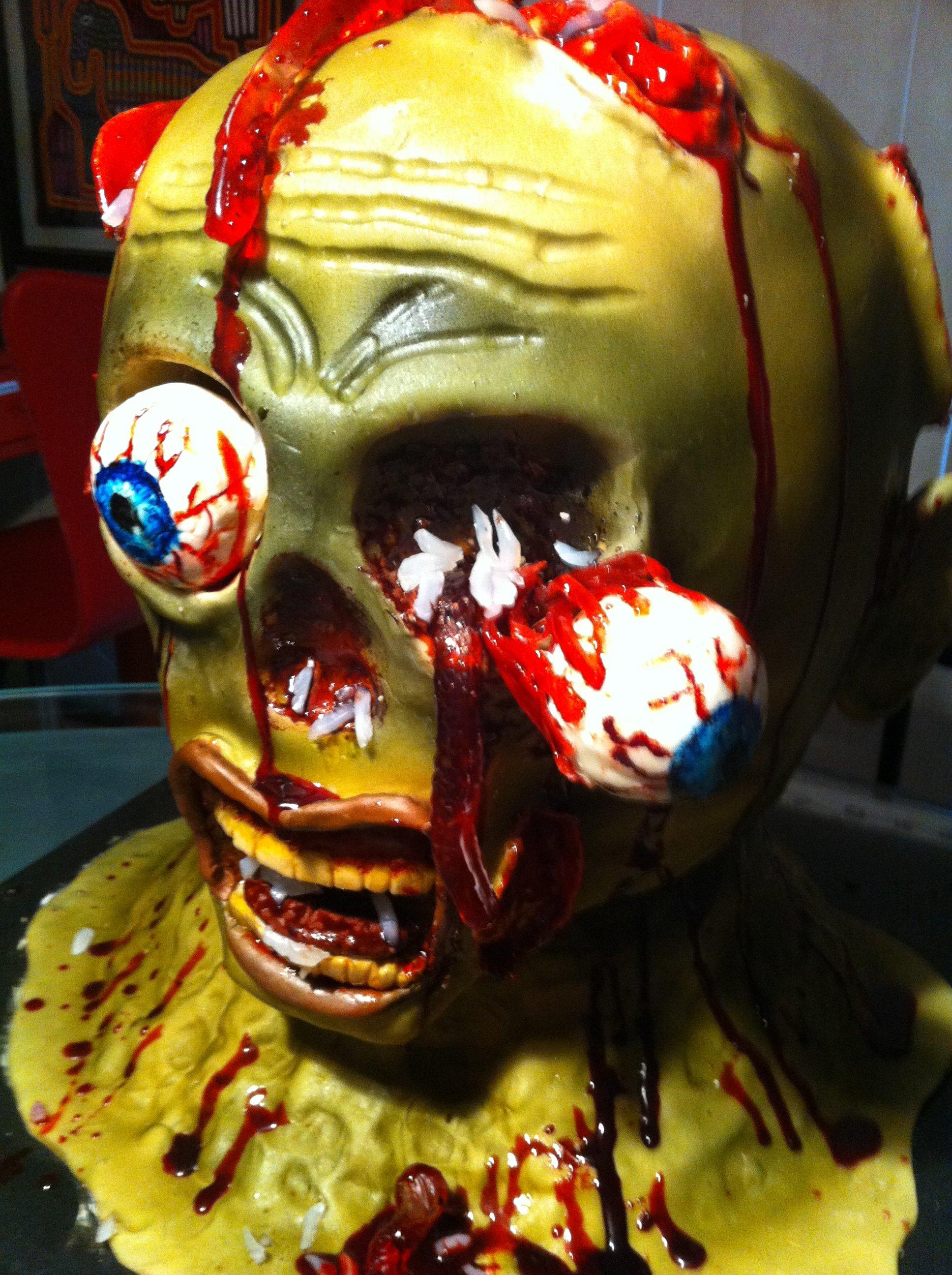 greusome zombie cake
