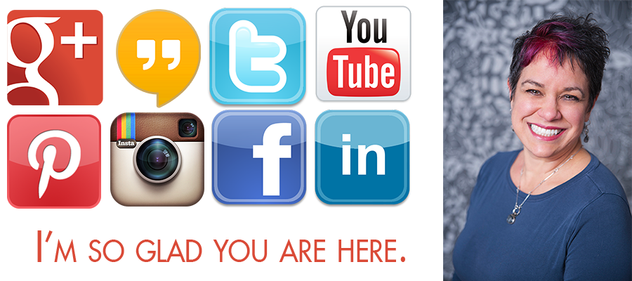 Social media hangouts including Google Plus, Hangouts on air, Twitter, Youtube, Pinterest, Instagram, Facebook and LinkedIn