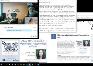 When I'm a podcast host - what my desktop looks like.