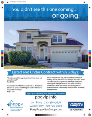 Perry Properties Group Full page ad