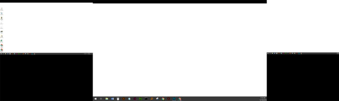 three desktops without clutter